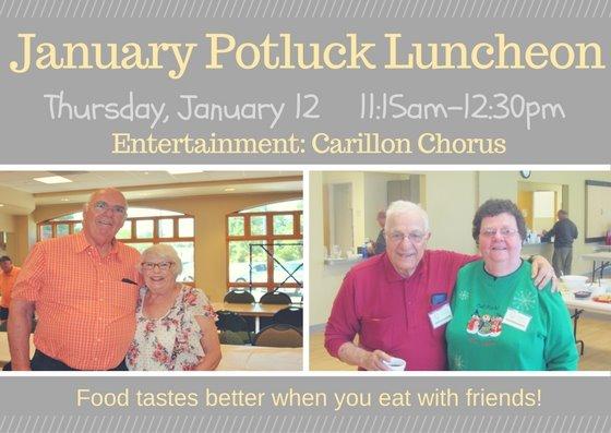 January Potluck Luncheon