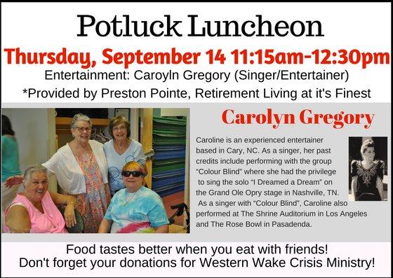 Potluck Luncheon September