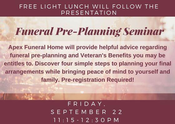 Funeral Pre-Planning Seminar
