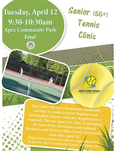 Senior Tennis Clinic