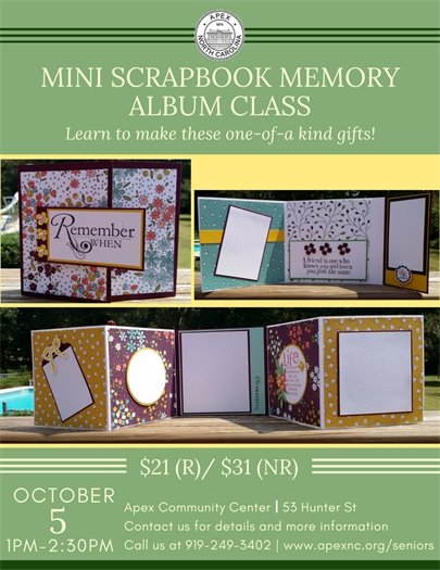 Mini Scrapbook Memory Album Class