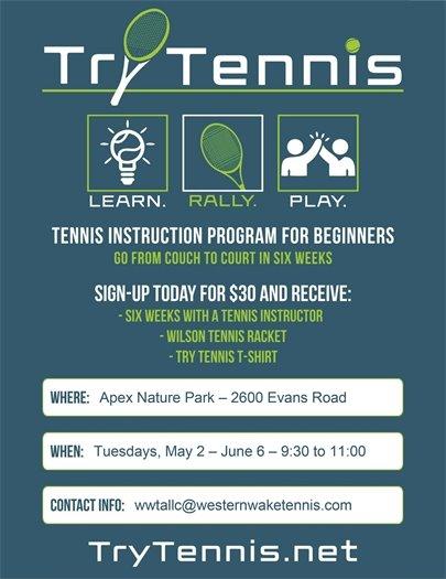 try tennis flier