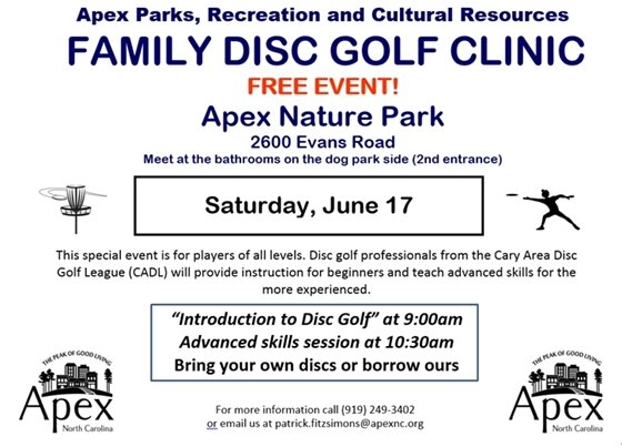 Family Disc Golf Clinic