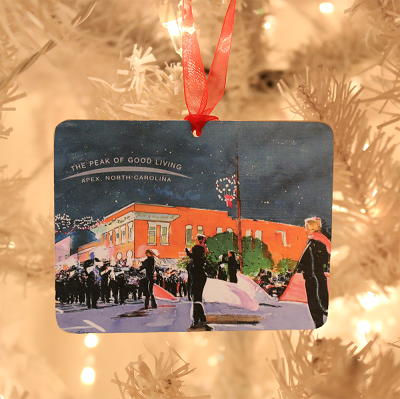 square 2020 ornament