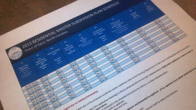 2013 Residential Master Subdivision Plan Schedule Picture