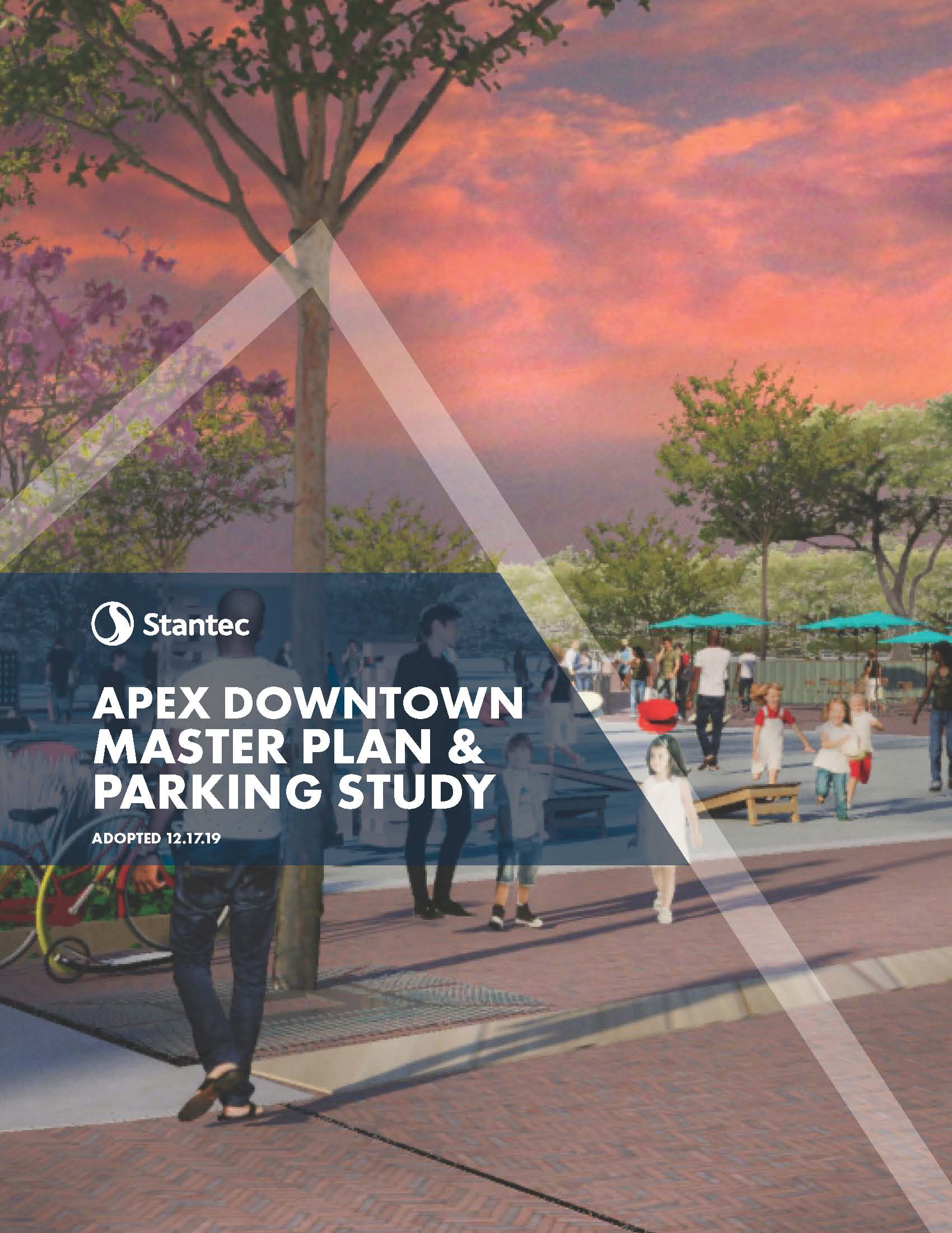 Apex Downtown Master Plan and Parking Study Cover Page Opens in new window