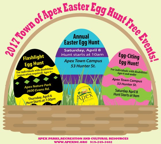Town of Apex Easter Egg Events