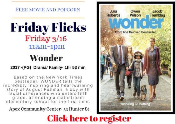 Wonder- Friday Flicks