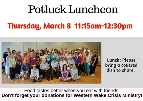 March Potluck Luncheon